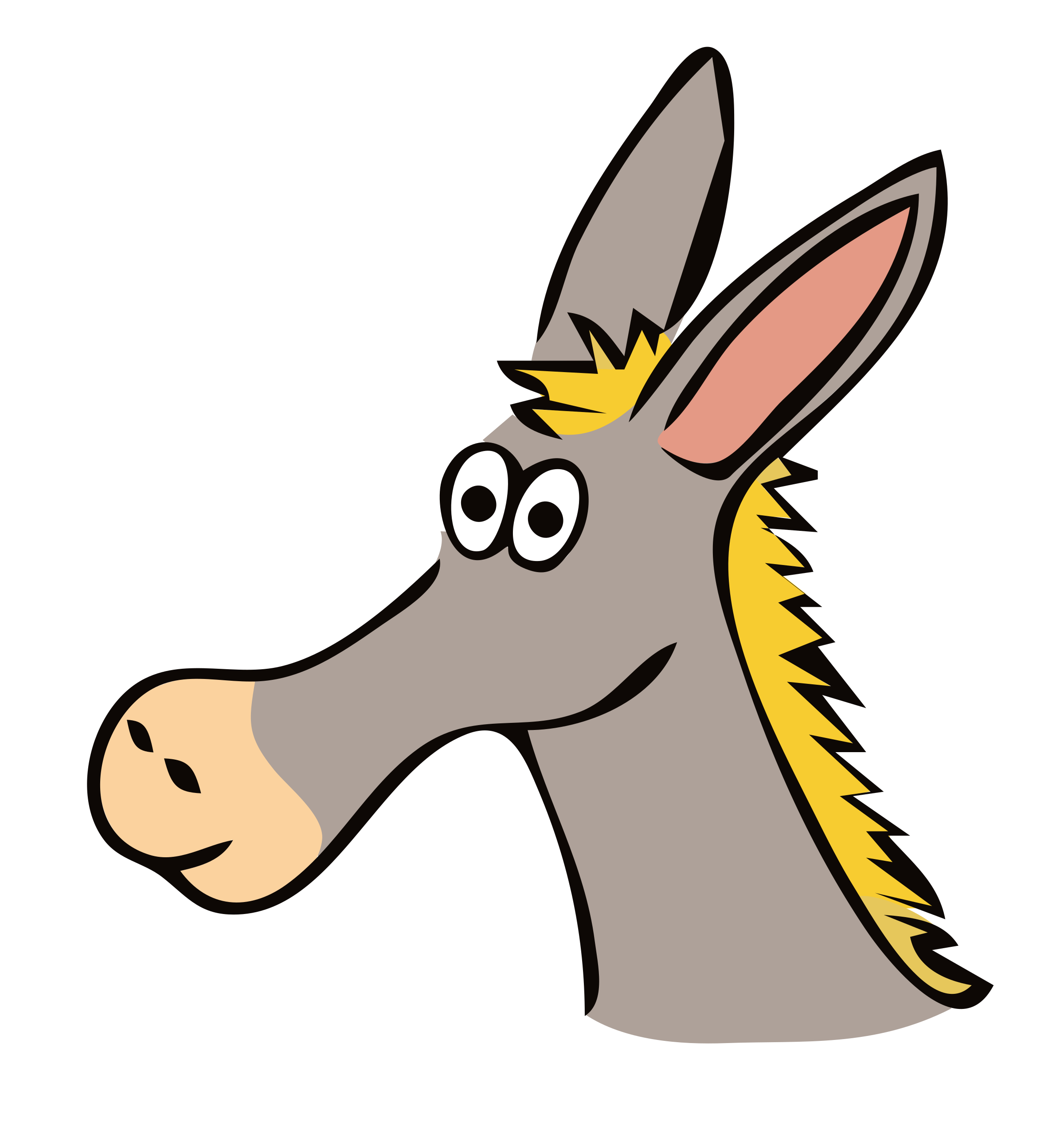 Drawn big image png. Head clipart donkey