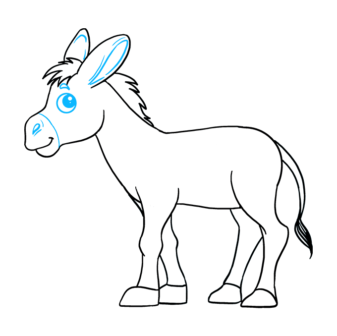 Donkey clipart easy, Donkey easy Transparent FREE for ...