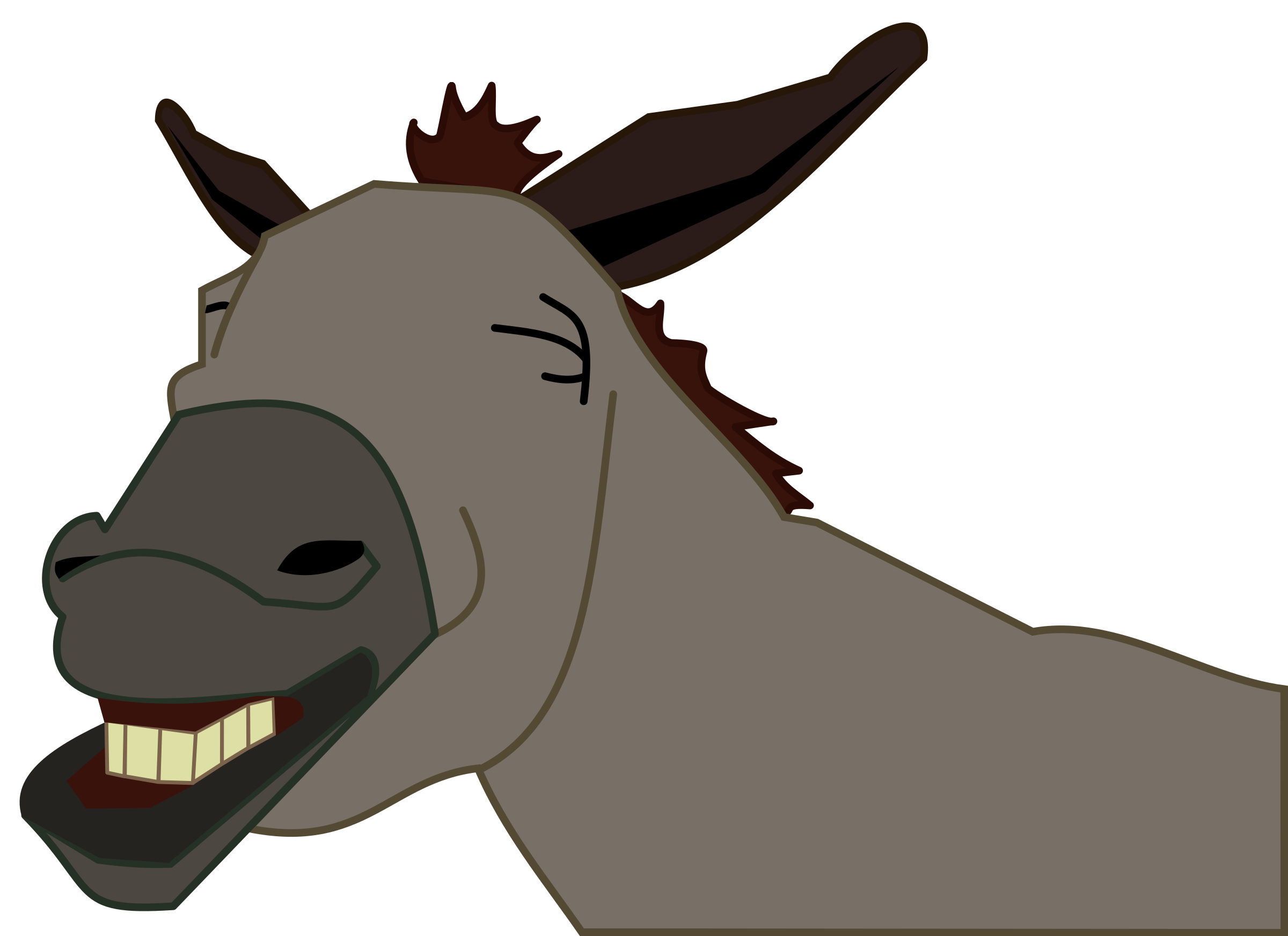 Silhouette at getdrawings com. Head clipart donkey