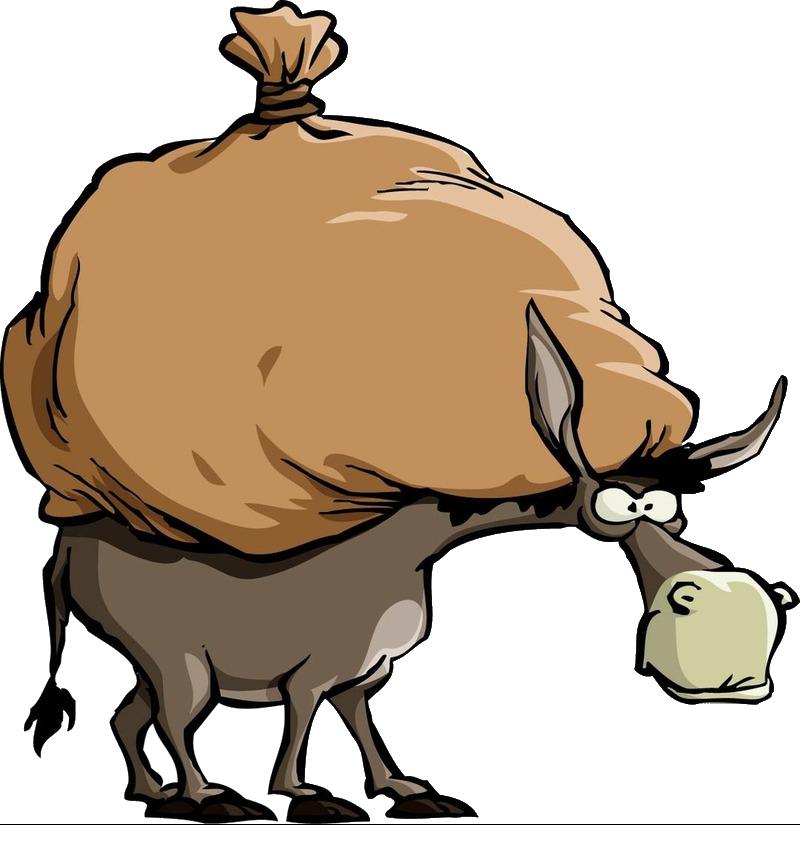 Flour clipart pack. Mule cartoon donkey clip
