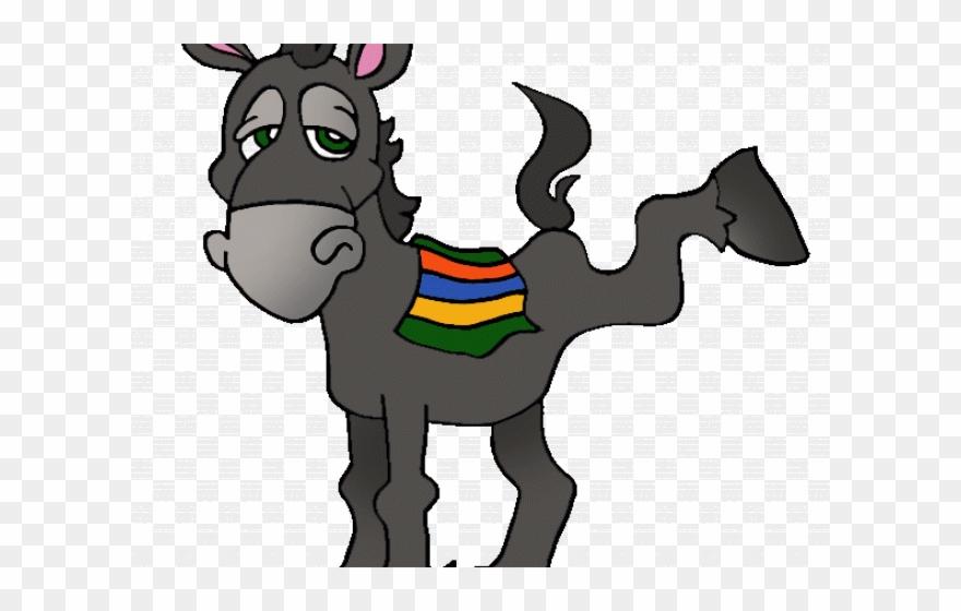Mule clipart cartoon. Donkey old clip art