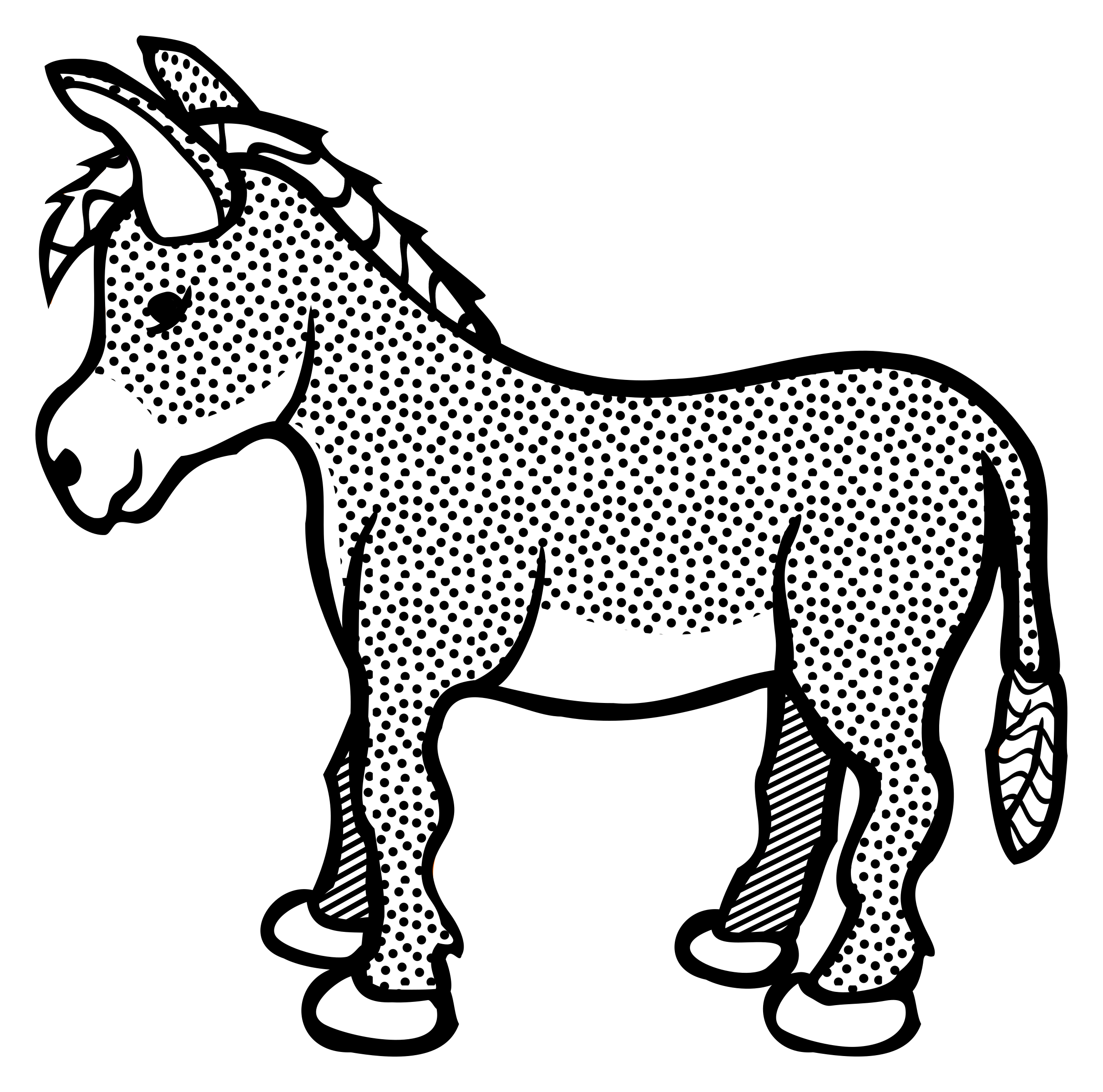 Drawing outline at getdrawings. Politics clipart donkey