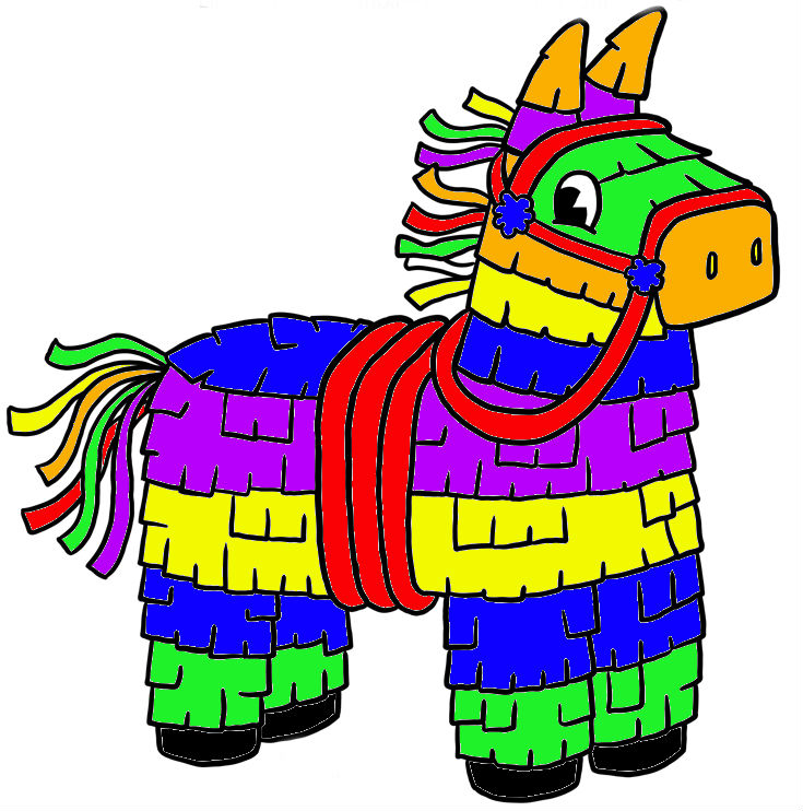Mexican clipart pinata. Free donkey cliparts download