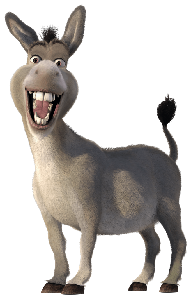 Donkey clipart shrek character. Free png transparent background