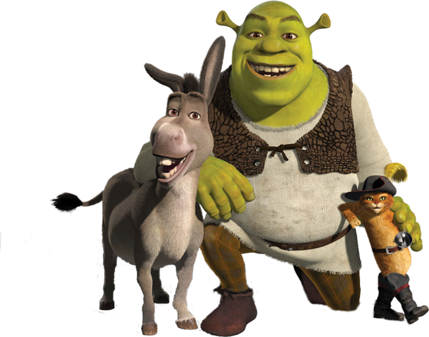 Donkey clipart shrek character. Smile png image purepng