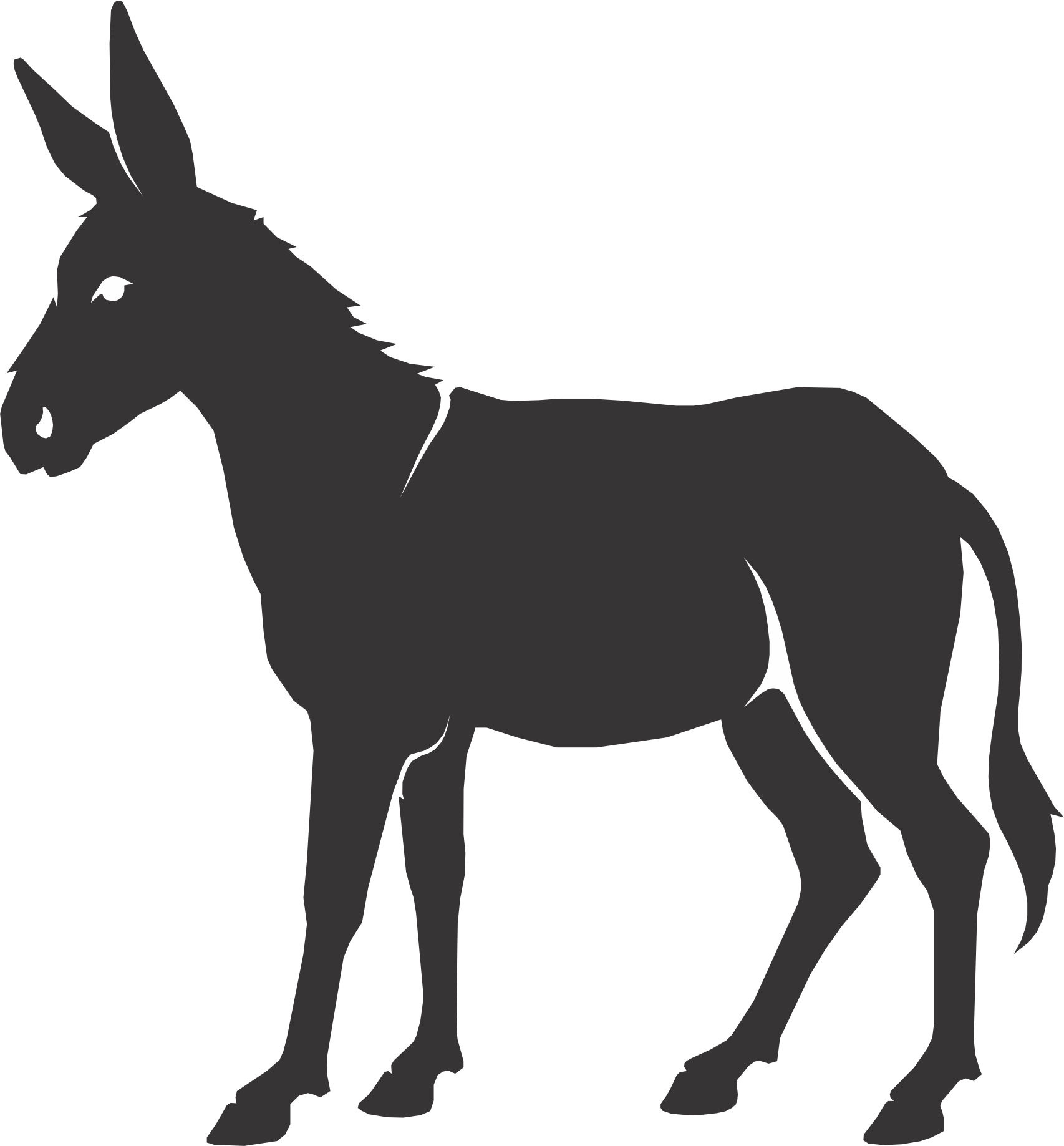 Free cliparts download clip. Donkey clipart silhouette