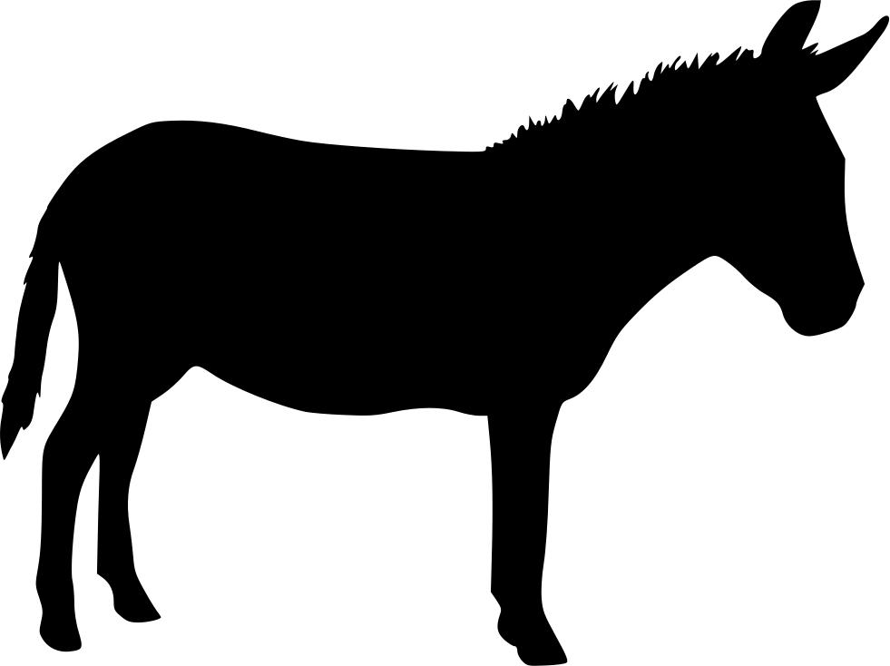 Politics clipart democrat donkey. Silhouette at getdrawings com