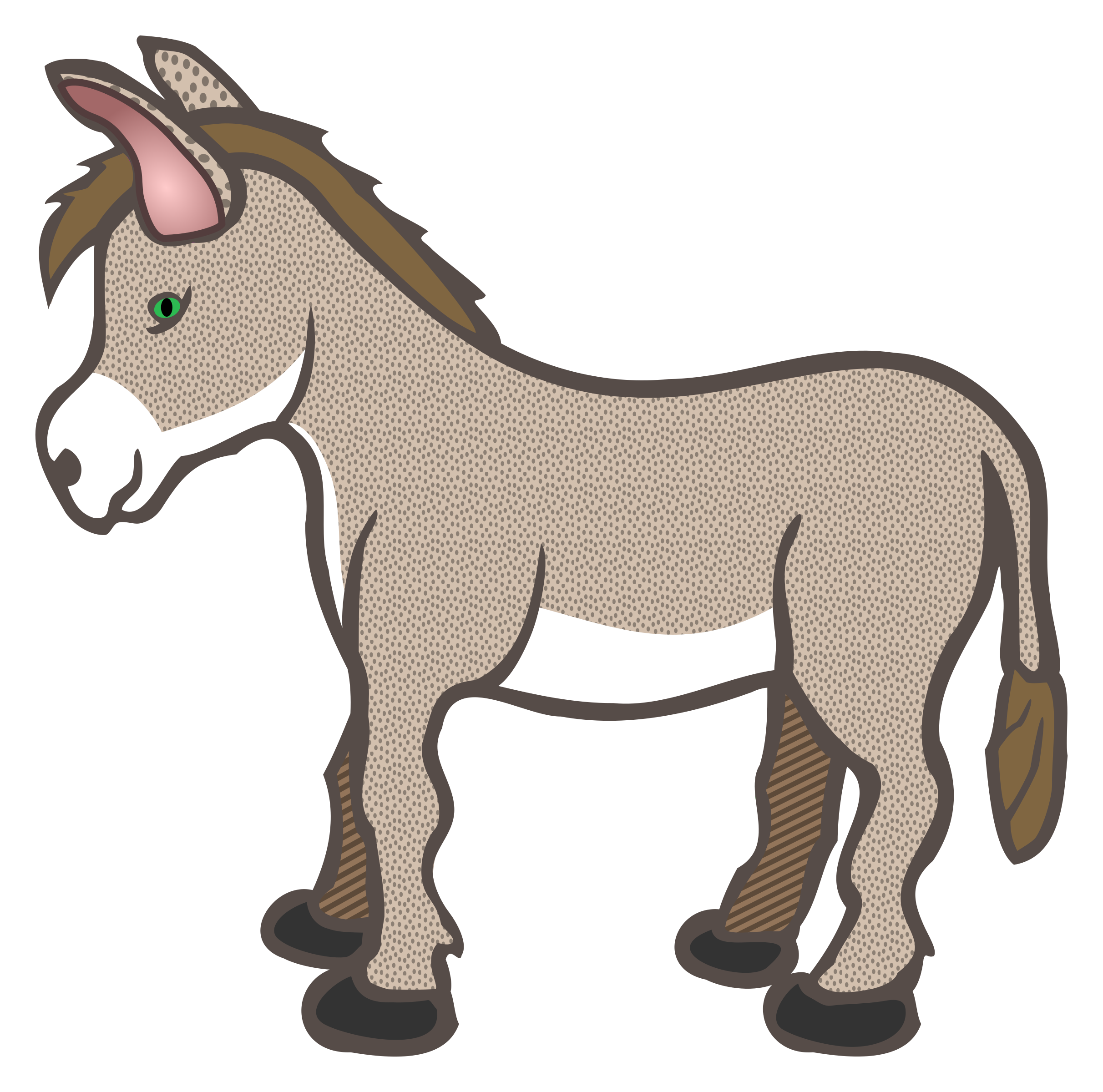 mule clipart nativity animal