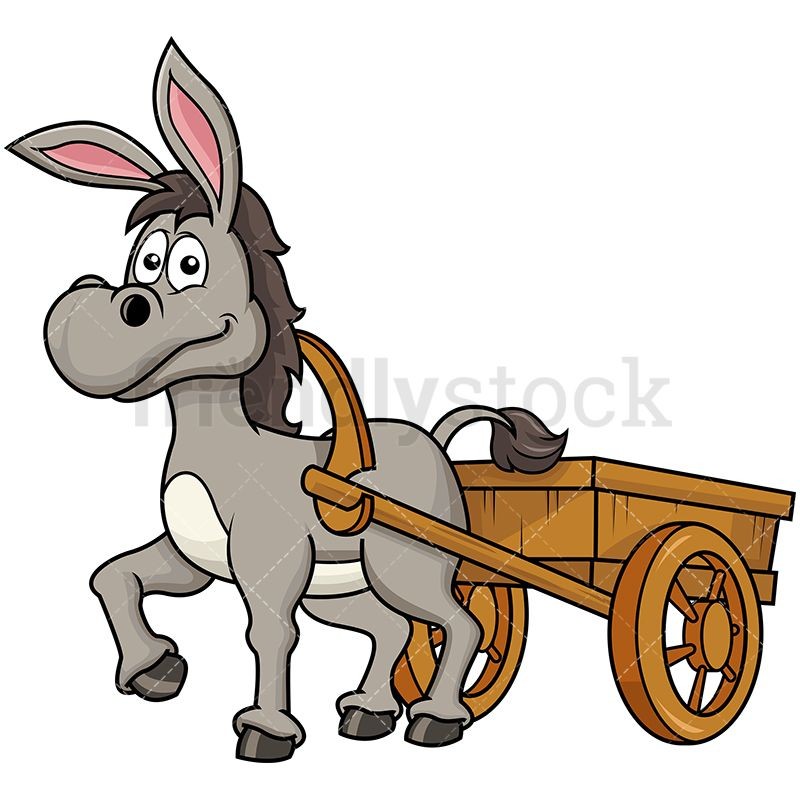 Wagon clipart donkey cart. Pulling farm carriage windows