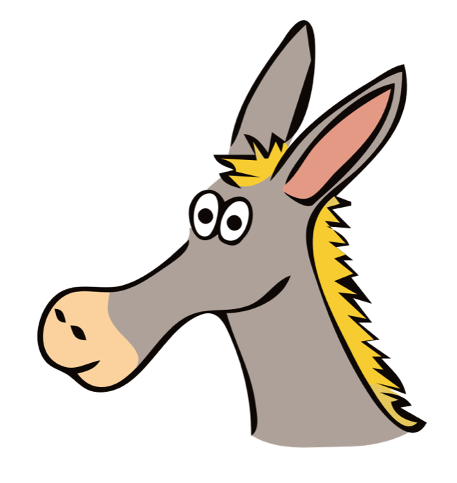 Free graphics of horses. Funny clipart horse