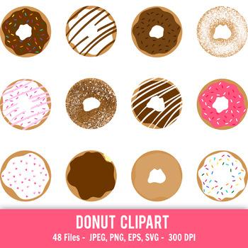 Donut clipart. Doughnut printable donuts cute