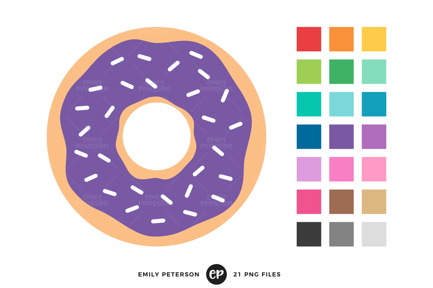 By emily peterson studio. Donut clipart