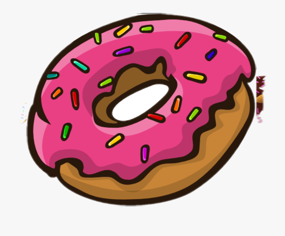 With sprinkles transparent background. Donuts clipart