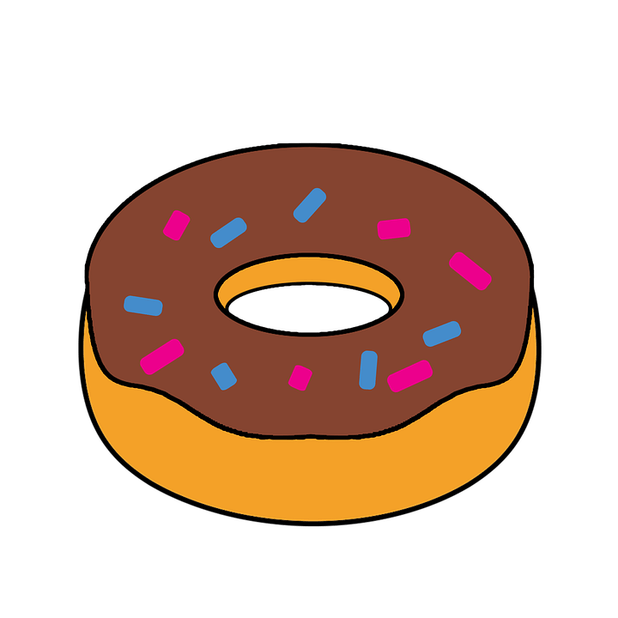 Donut clipart animated. Food cartoon images cartoonview