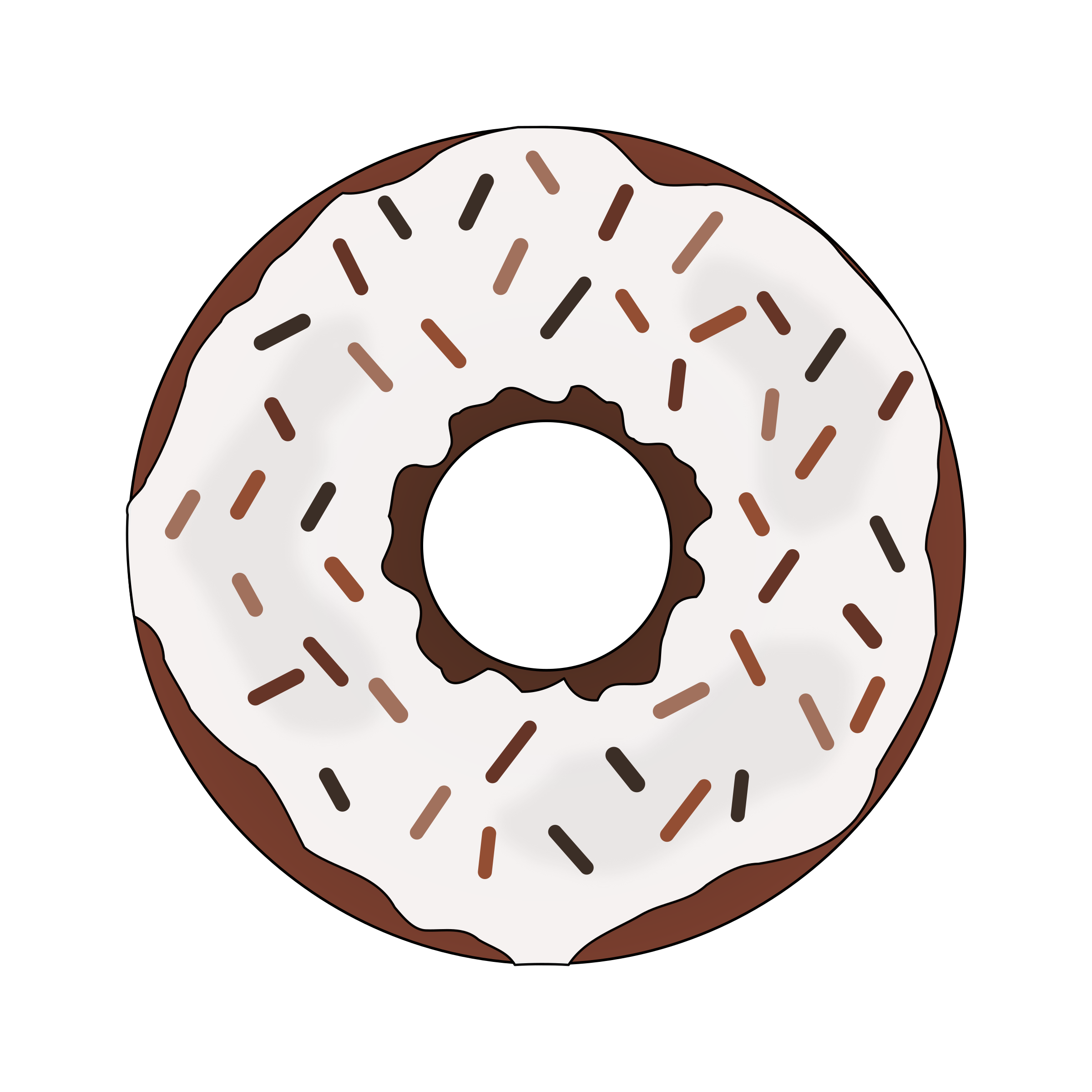 Brown image png. Donut clipart big donut