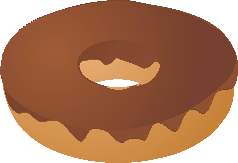 Donut doughnut chocolate covered. Donuts clipart plain
