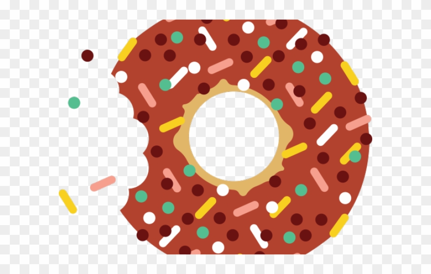 Doughnut clipart bite. Red donut bitten png
