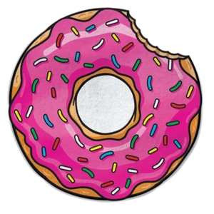 Donut red transparent png. Donuts clipart bitten