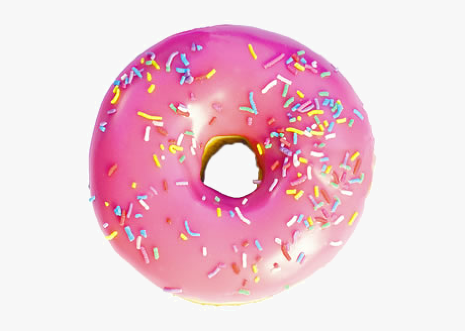 Pink image free hq. Doughnut clipart cream filled donut
