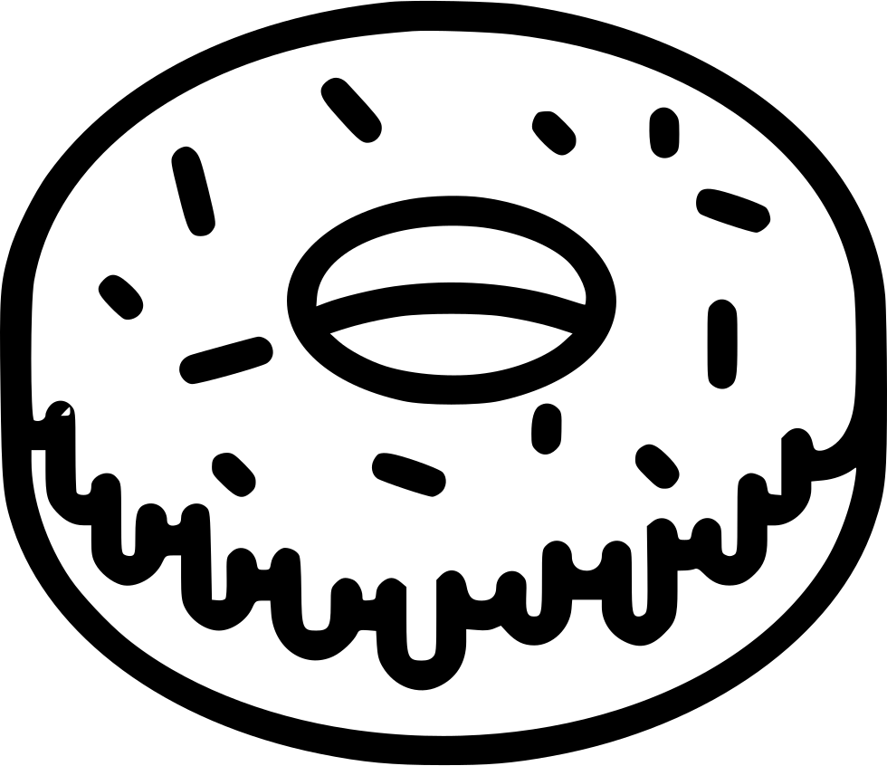Doughnut clipart bitten donut. Frosted svg png icon
