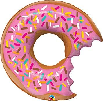 bit sprinkles helium. Donut clipart bitten donut