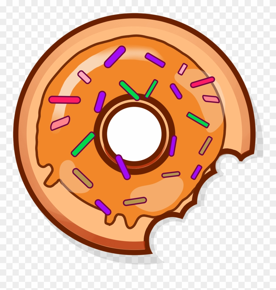 Donut red png transparent. Donuts clipart bitten