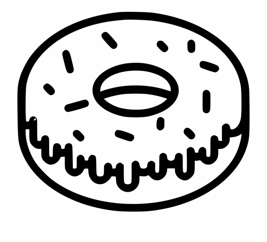 Doughnut bitten png . Donuts clipart black and white