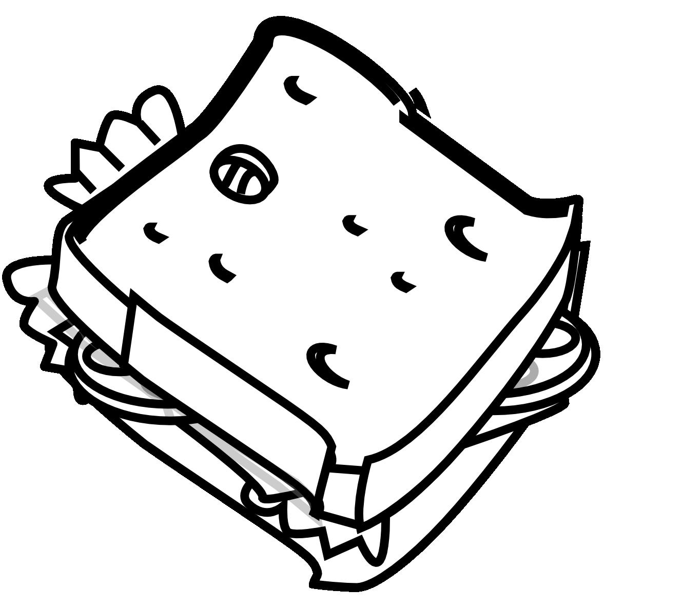 Square clipart cheese. Bread black and white