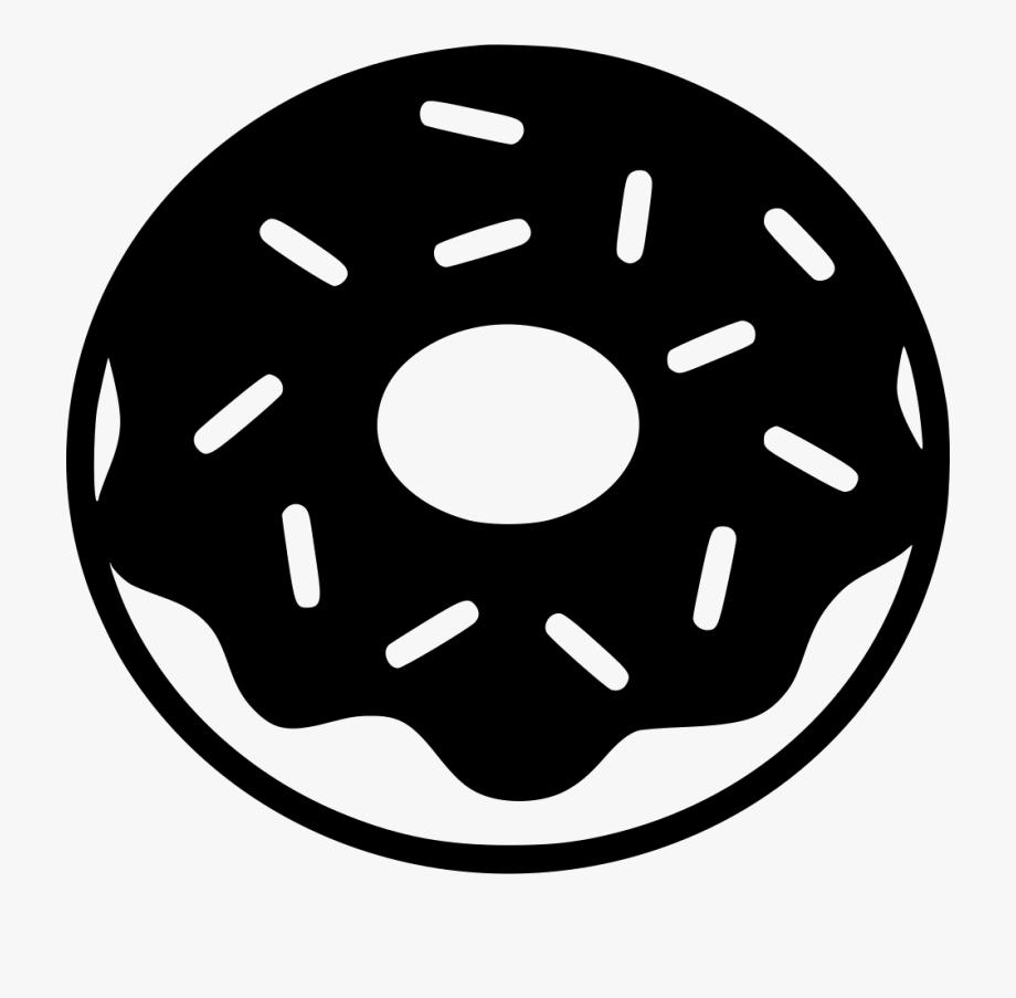 Donut Cartoon Black And White