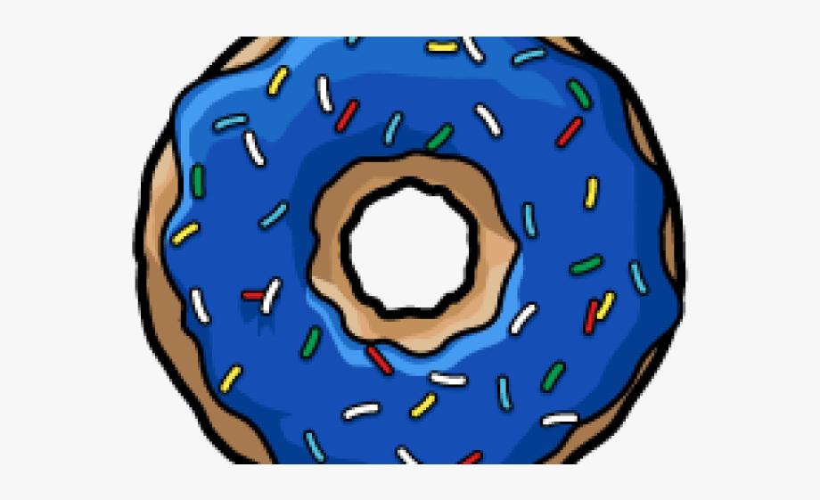 Donut green transparent . Doughnut clipart blue
