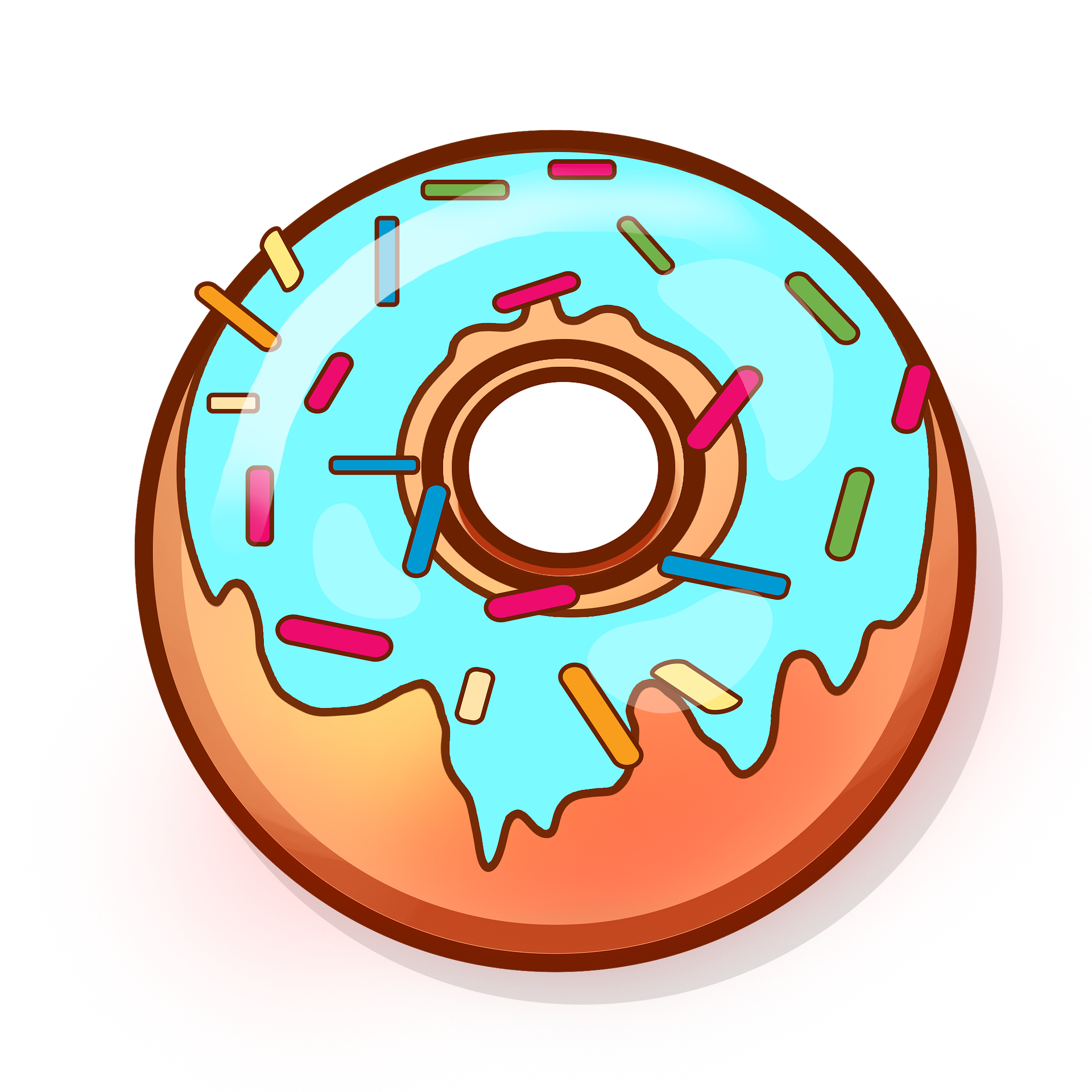 Donut clipart blue. Eat sugarboy donuts donutpng