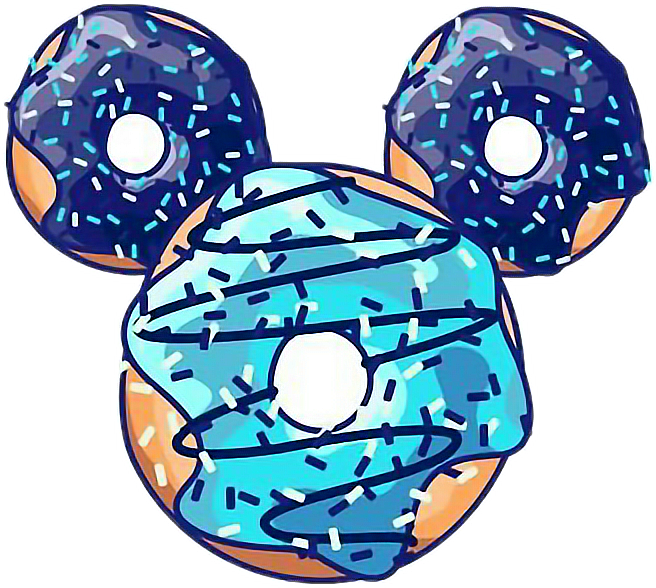 Disney mikey food cool. Donut clipart blue