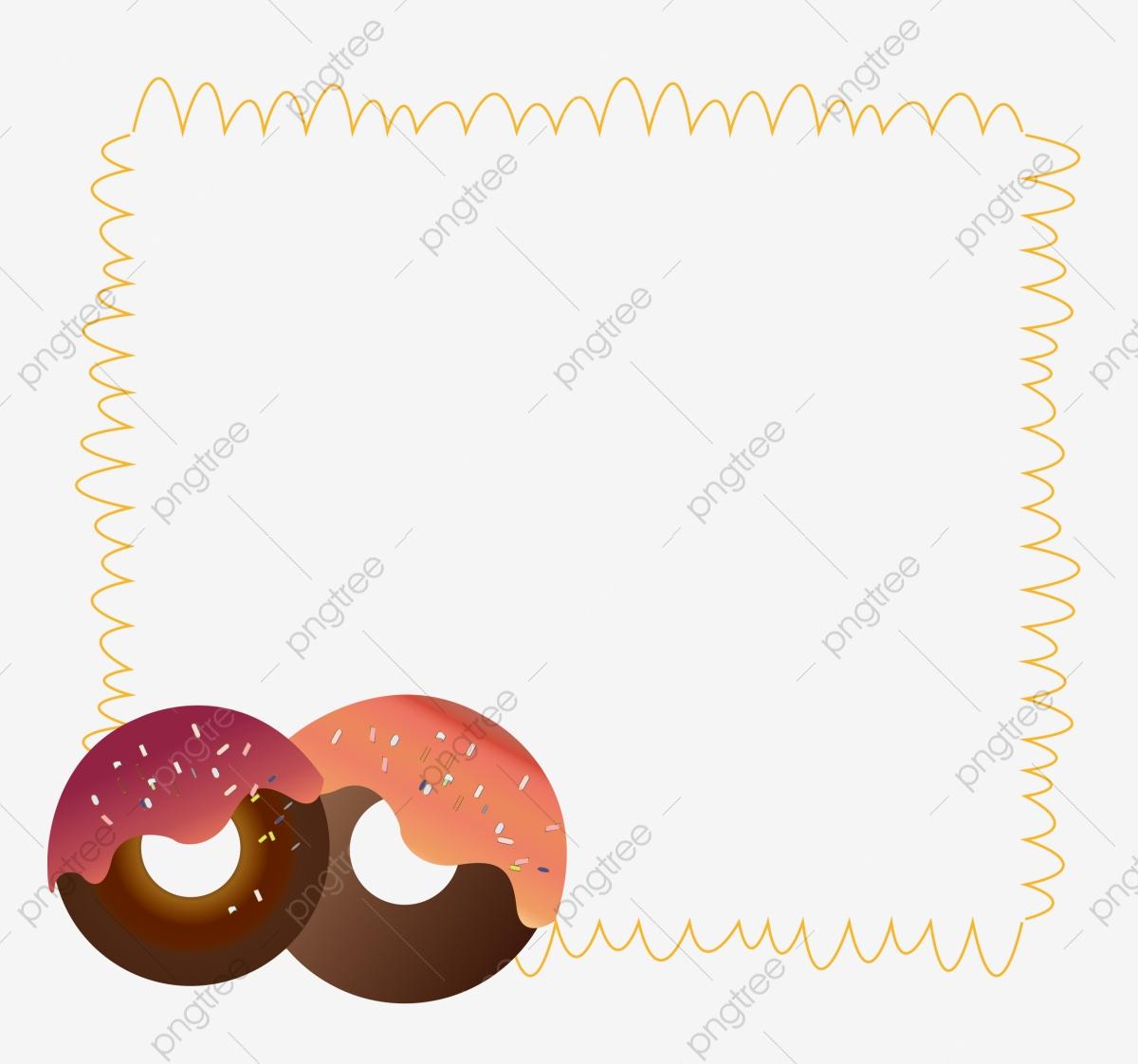 Donut clipart border. Cartoon cookie illustration chocolate
