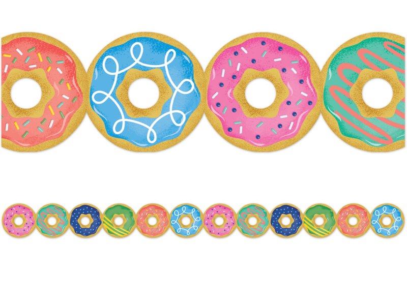 Mid century mod . Donut clipart border