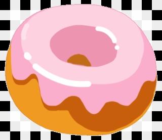 Cartoon donuts in transparent. Donut clipart box doughnut