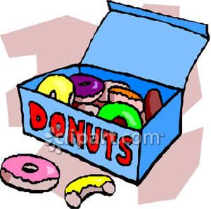 A big of donuts. Donut clipart box doughnut
