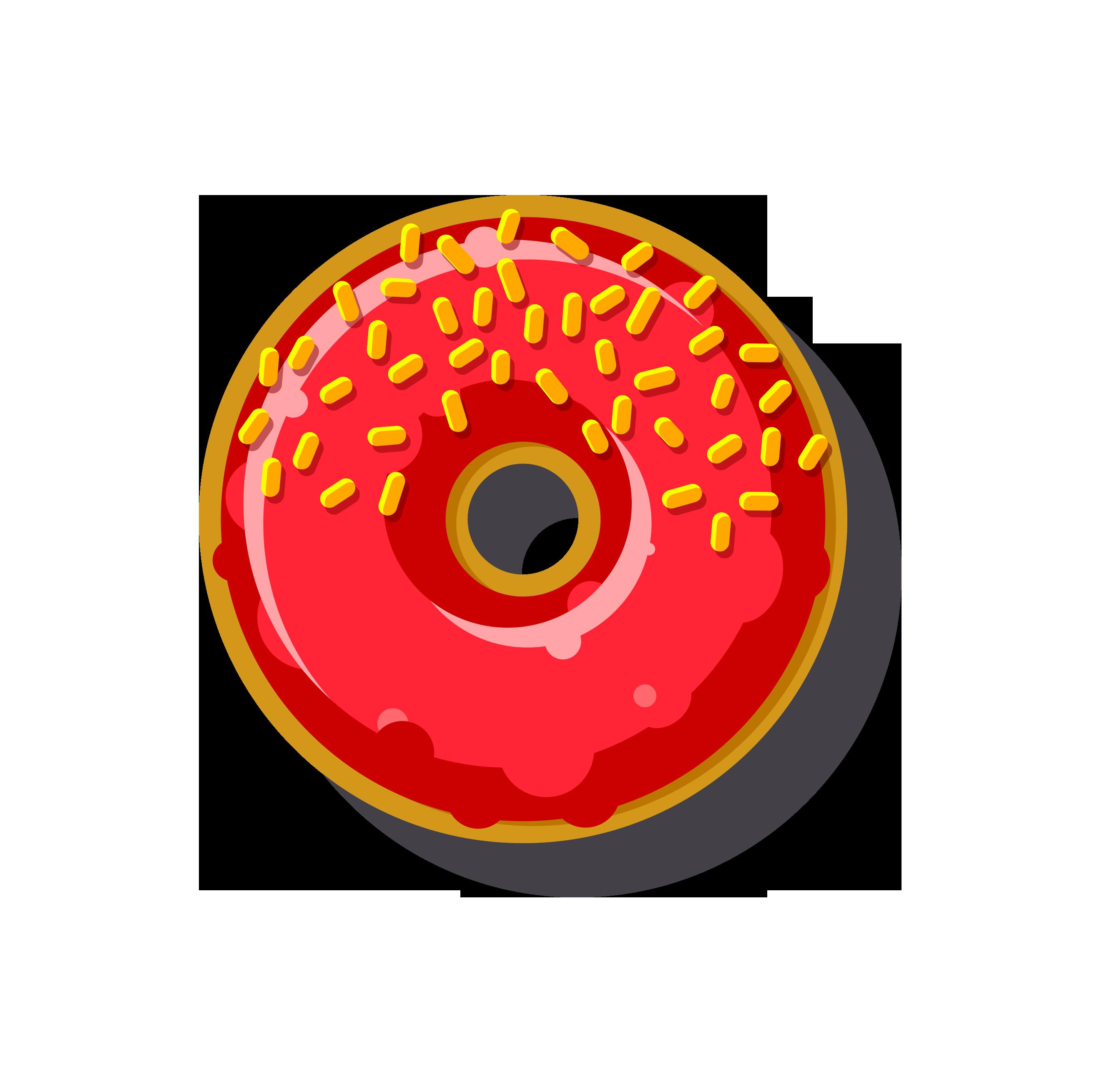 Online order at o. Donut clipart cart