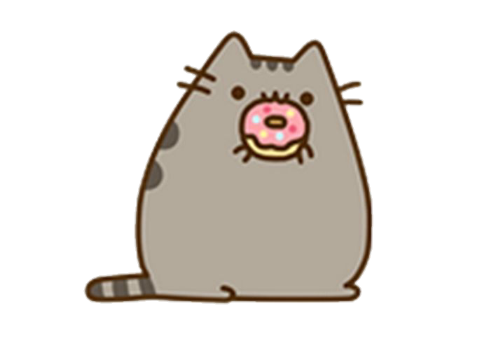 Donut clipart cat. Kawaii pusheen donuts report