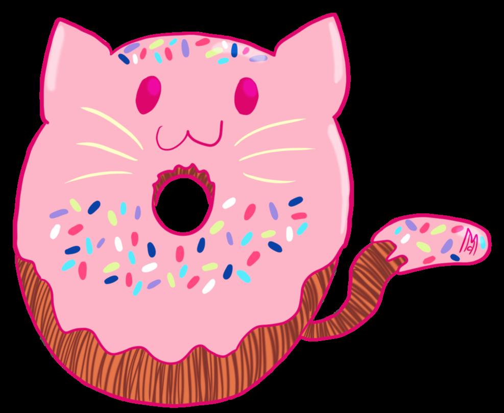 By starseeddreamer on deviantart. Donut clipart cat