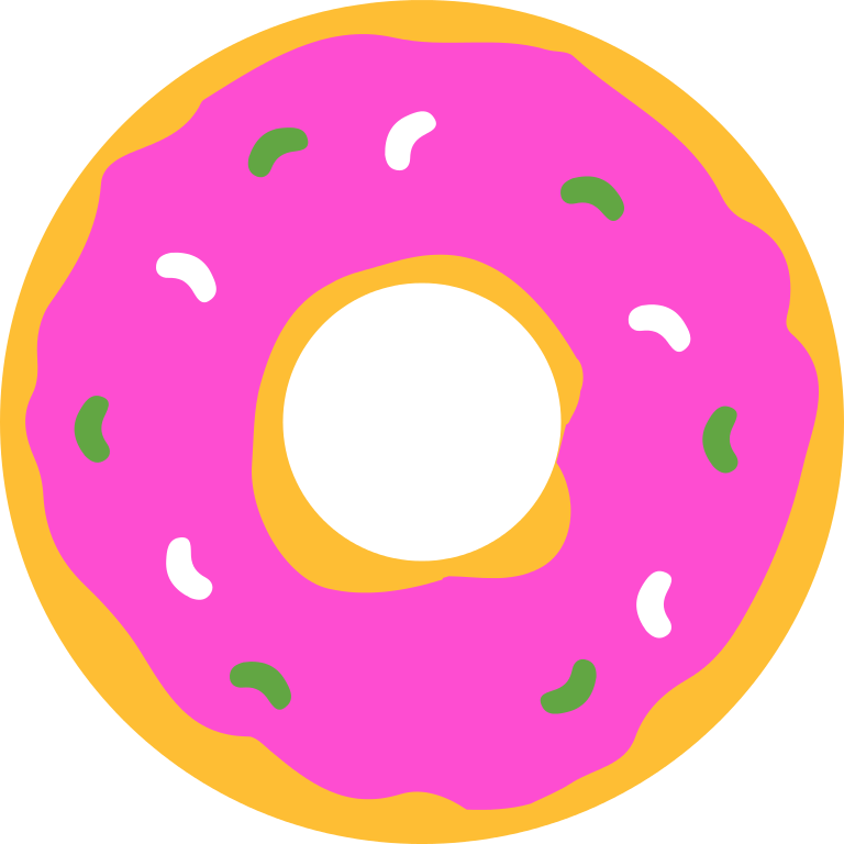 Donut clipart circle. File simpsons svg wikipedia