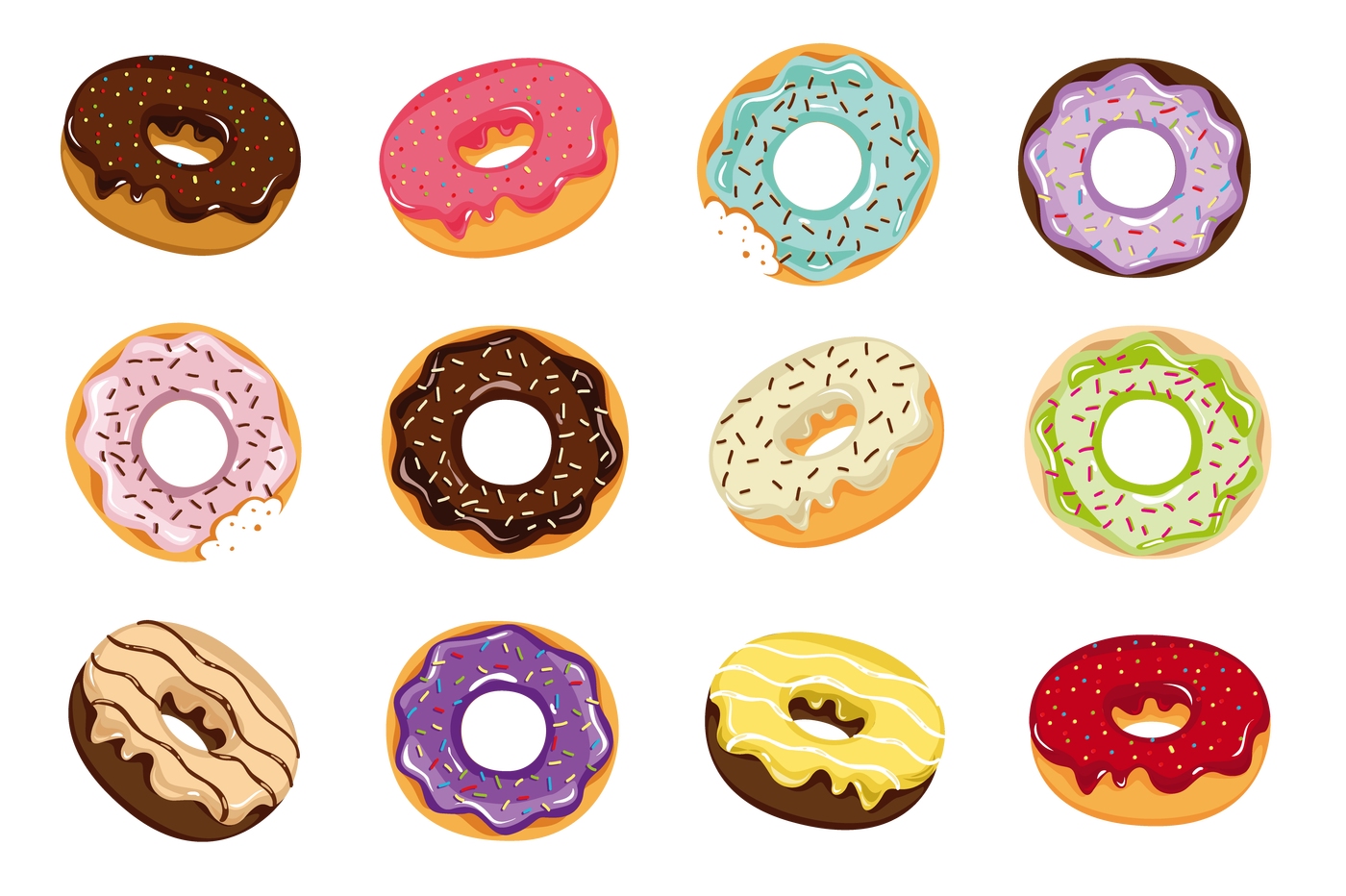 Donut clipart clear background. Doughnut png images transparent