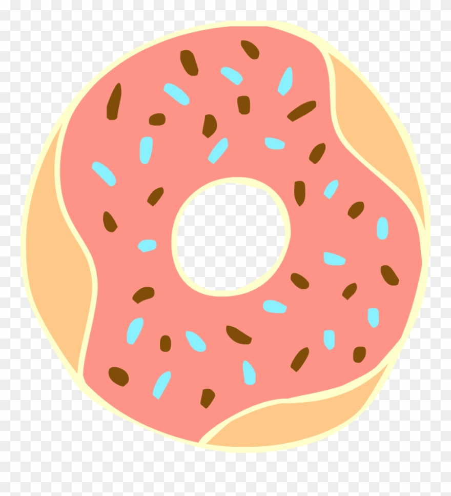 Coffee and transparent donut. Donuts clipart clear background