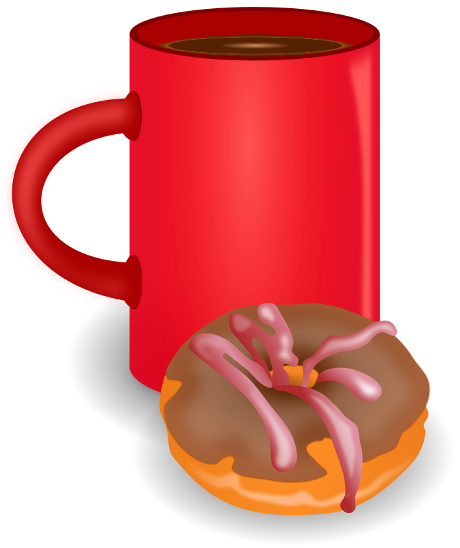 And doughnut medium image. Donut clipart coffee