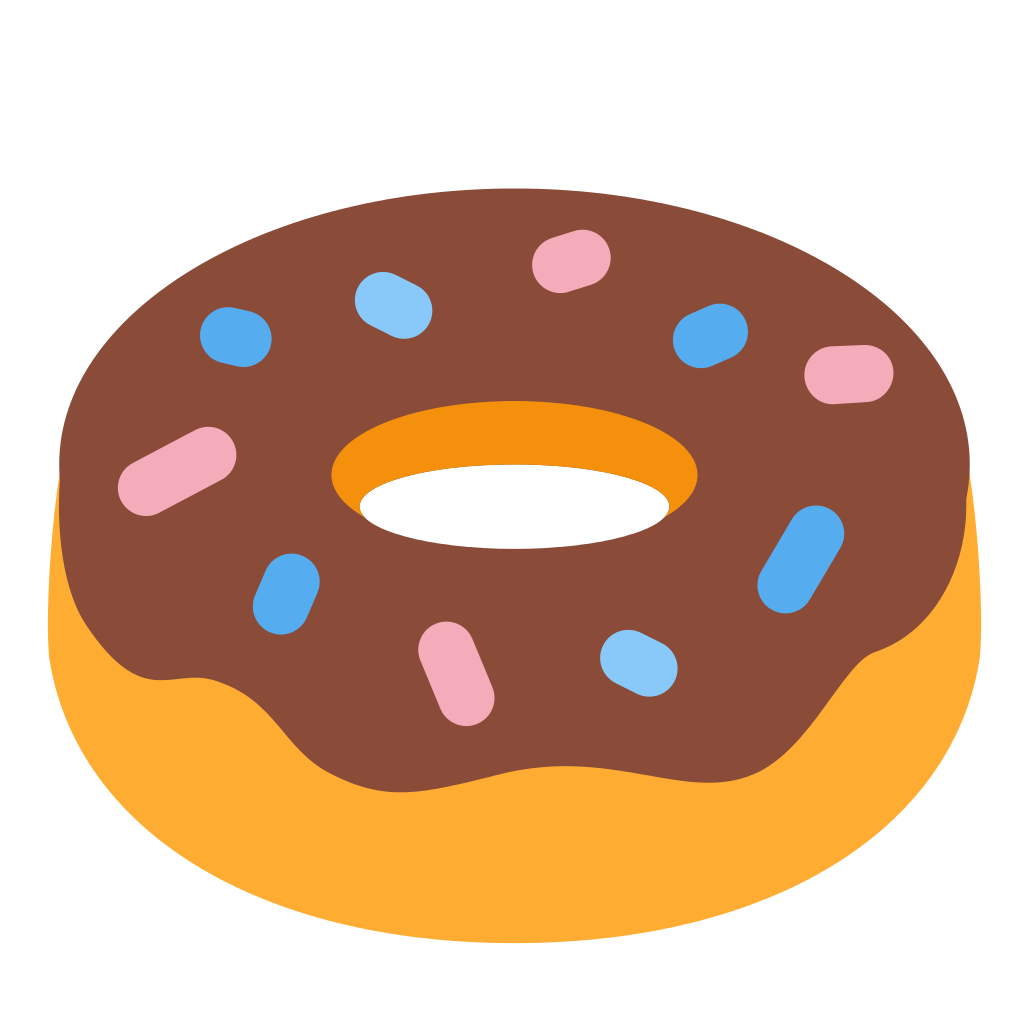 File twemoji f svg. Doughnut clipart colorful