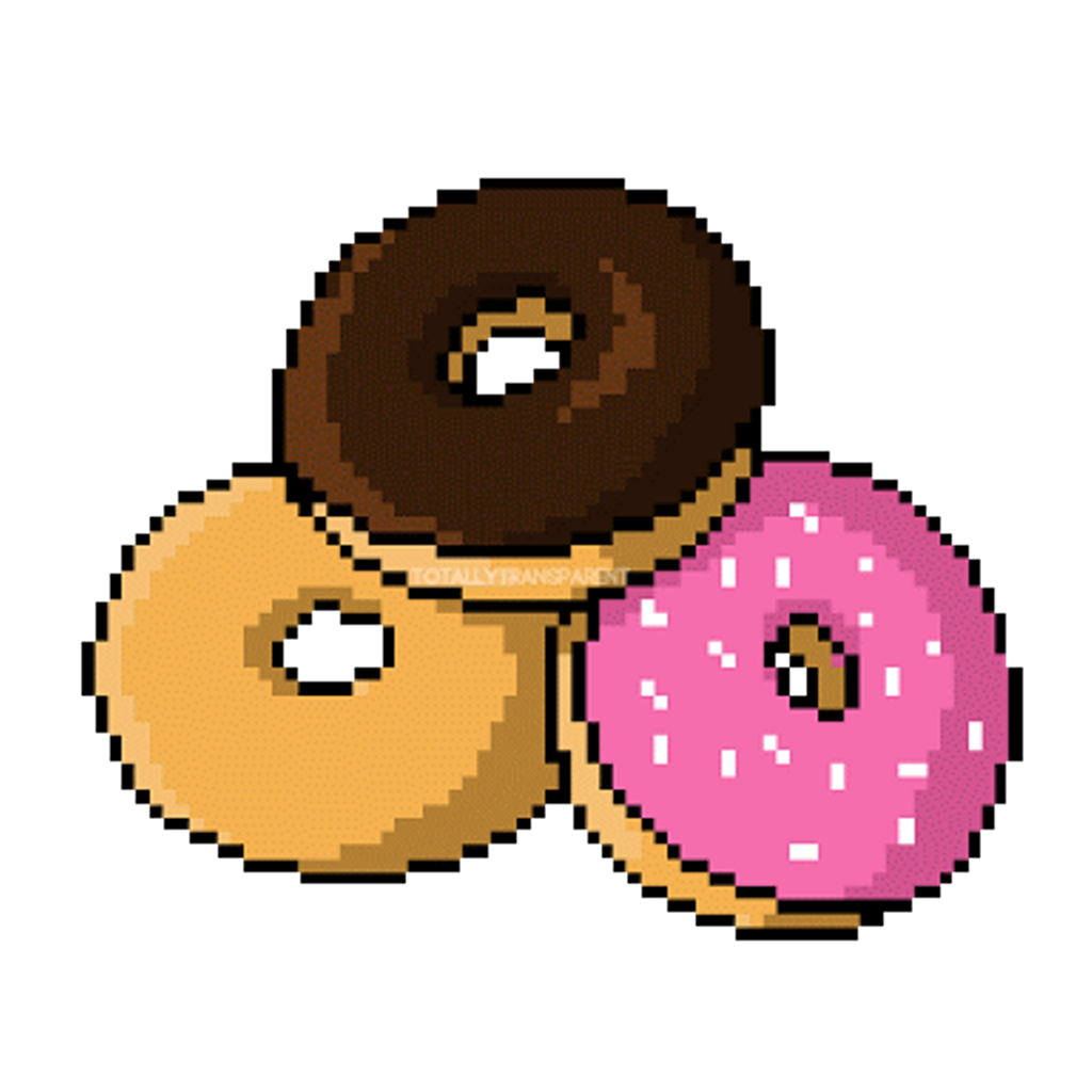 Donut clipart cute. Dona pink tumblr food