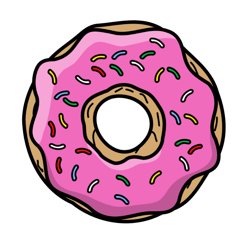 Simsons pink homero tumblr. Donut clipart cute