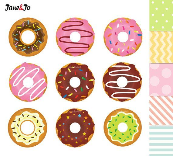 Digital clip art sweet. Donuts clipart candy
