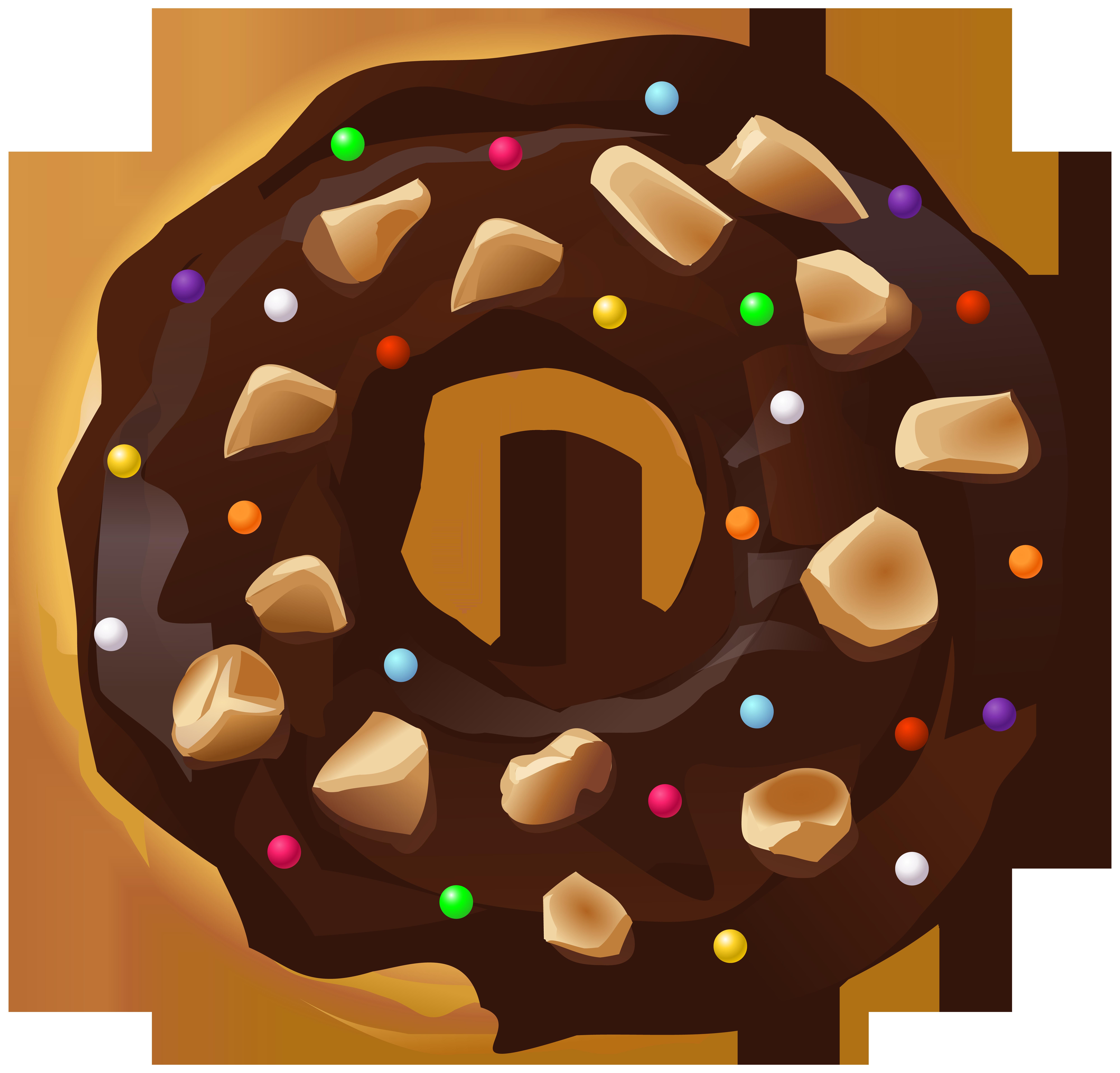 Donut clipart donut cake. Donuts chocolate clip art