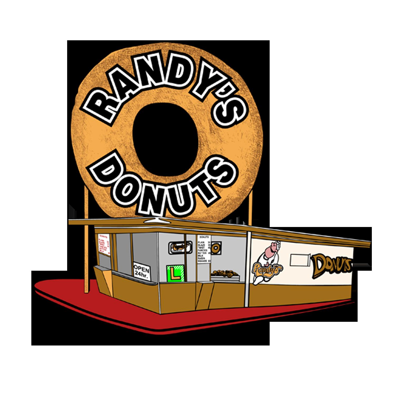 Randy s donuts . Donut clipart doughnut
