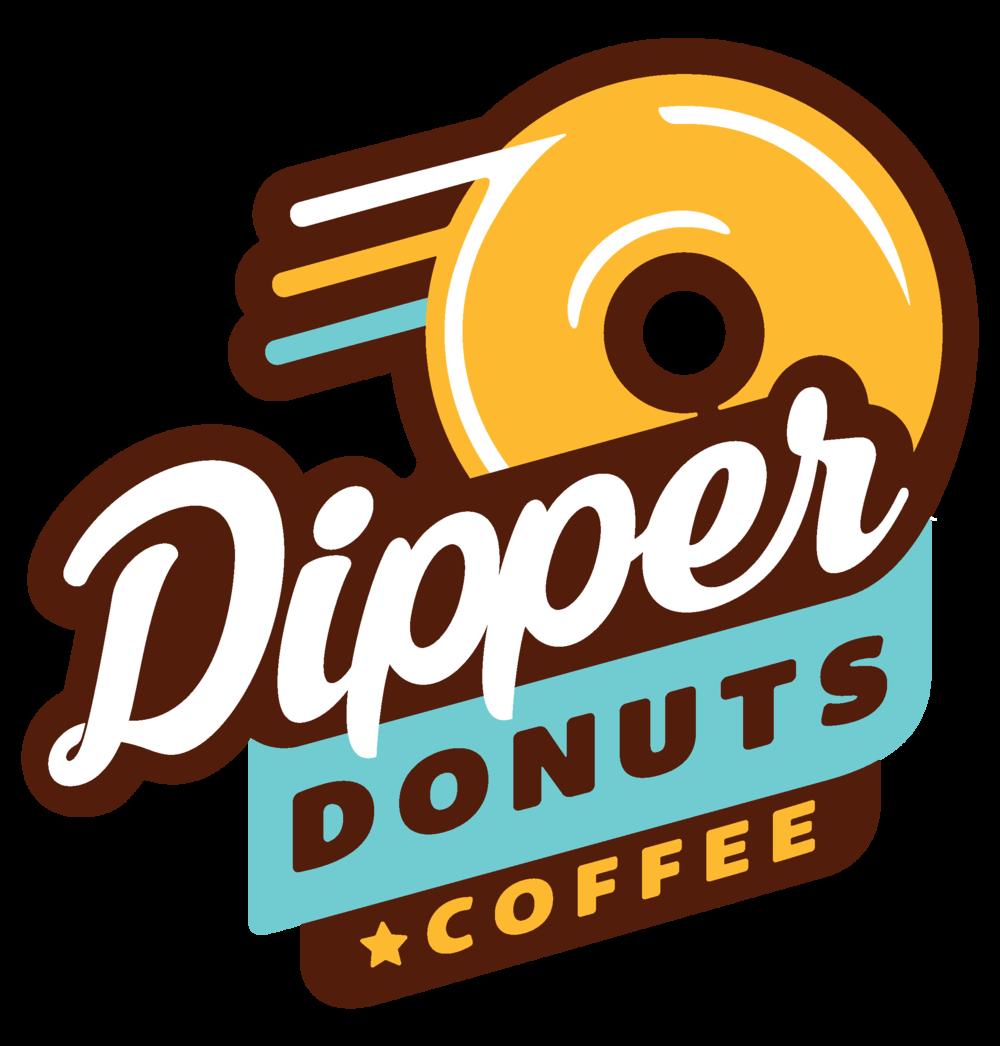 Donut clipart dozen. Home dipper donuts logopng